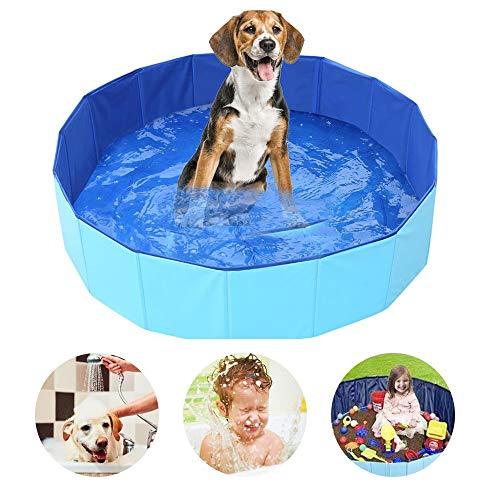 SYCASE Hundepool Schwimmbecken Für Kleine & Große Hunde, Faltbare Hund Planschbecken, Hundebadewanne,...