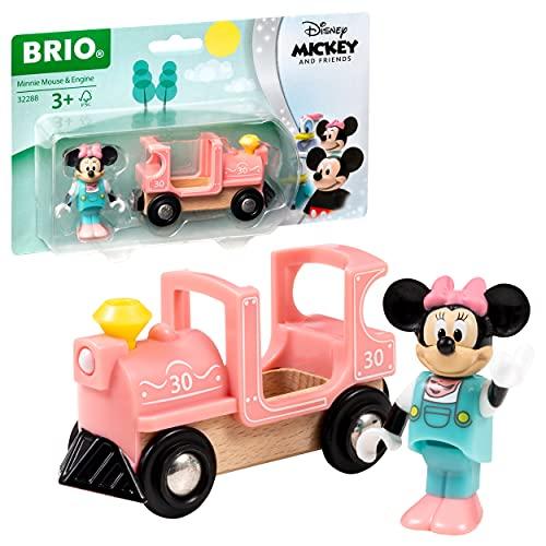 BRIO World 32288 Minnie Maus Lokomotive - Zubehör für die BRIO Holzeisenbahn - Empfohlen ab 3 Jahren
