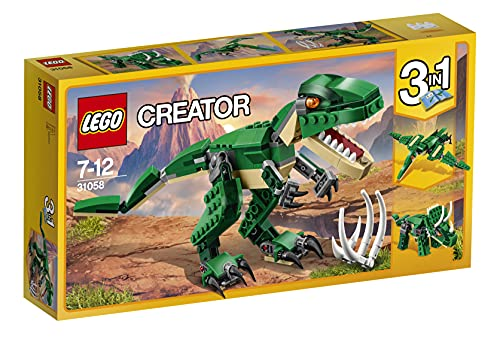 LEGO 31058 Creator Dinosaurier, 3-in-1 Modell: T-Rex, Triceratops oder Pterodactylus,...