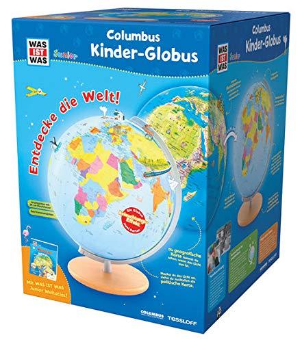 WAS IST WAS Junior Columbus Kinder-Globus: Leuchtglobus, Durchmesser 26 cm, Extra: mit Weltatlas (WAS IST...
