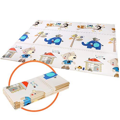 Bamny Spielmatte Baby Geruchlos Teppich Spielteppich Faltbarer Krabbelmatte Ungiftig XPE-Schaumboden...