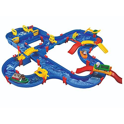 BIG Spielwarenfabrik 1650 AquaPlay - AmphieWorld - 145x156 cm große Wasserbahn, inklusive 79 Teilen,...