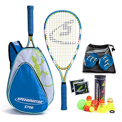Speedminton® S700 Set – Original Speed Badminton/Crossminton Allround Set inkl. 5 Speeder®,...