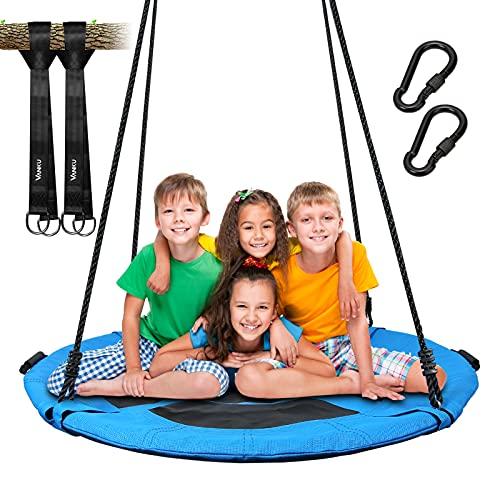 Vanku 300KG Nestschaukel für Kinder Erwachsene Outdoor Garten mit 115cm Sitzflächendurchmesser und 2...