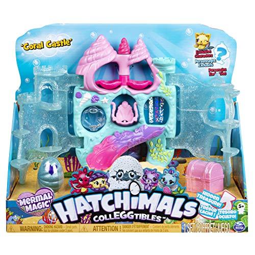 Hatchimals 6045505 - CollEGGtibles aufklappbares Spielset Coral Castle, mit 2 CollEGGtibles Mermal Magic...