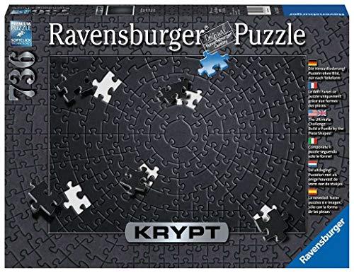 Ravensburger Puzzle 15260 - Krypt Puzzle Schwarz - Schweres Puzzle für Erwachsene und Kinder ab 14...