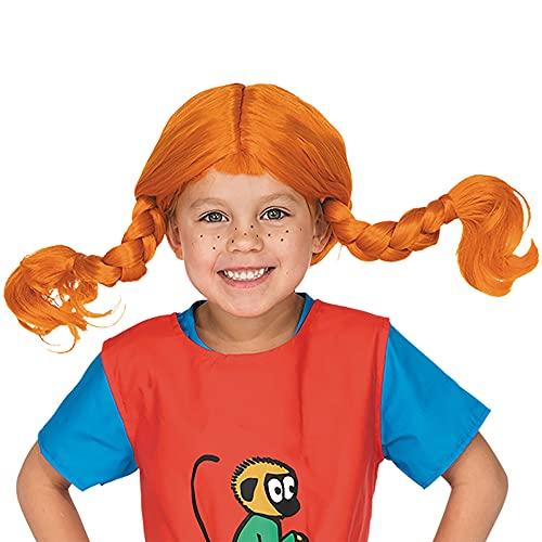 Pippi Langstrumpf Perücke Kinder - Kostüm Mädchen & Jungen 3-6 Jahre - Einheitsgröße - Pippi...
