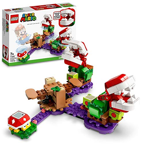 LEGO 71382 Super Mario Piranha-Pflanzen-Herausforderung – Erweiterungsset, Limonadendschungel,...