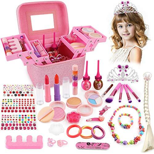 balnore Kinderschmink Set Waschbar Kosmetikset Schminkkoffer Kinder Prinzessin Kosmetikset Mädchen...