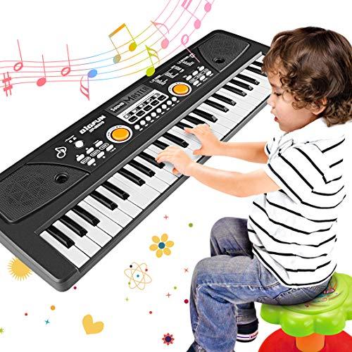 WOSTOO Kinder Klavier, Multifunktions Mini 49 Tasten Musik Klaviertastatur Tragbare Wiederaufladbare...