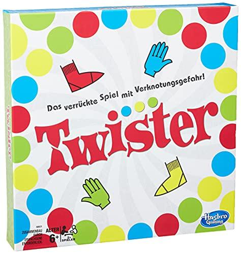 Hasbro Gaming Twister Spiel, Partyspiel für Familien und Kinder, Twister Spiel ab 6 Jahren, klassisches...
