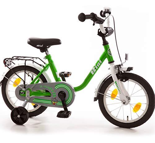 Bibi Kinderfahrrad 14 Zoll mit Rücktrittbremse und Stützrädern Fahrrad für Kinder Junge Mädchen...