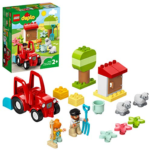 LEGO 10950 DUPLO Traktor und Tierpflege Kleinkinder Spielzeug ab 2 Jahren, Bauernhof, Spielset mit Bauern...