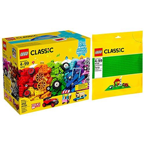 Lego Classic 2er Set 10715 10700 Kreativ-Bauset Fahrzeuge + Grüne Bauplatte