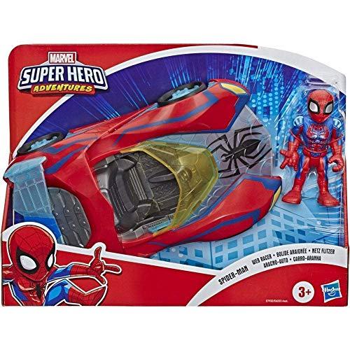 Playskool Heroes Marvel Super Hero Adventures Spider-Man Netz Flitzer, 12cm große Figur und...