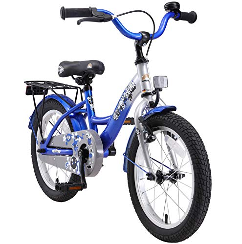 BIKESTAR Kinderfahrrad für Mädchen und Jungen ab 4-5 Jahre | 16 Zoll Kinderrad Classic | Fahrrad für...