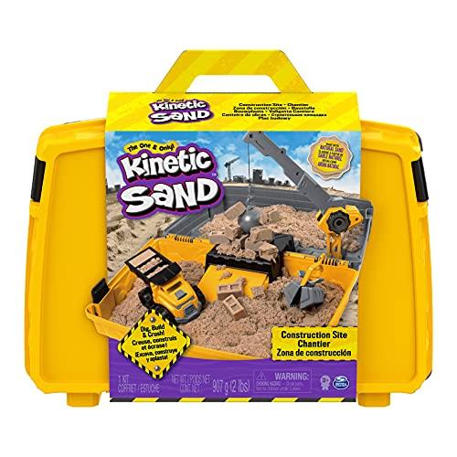 Kinetic Sand Baustellen Koffer mit 907 g Kinetic Sand