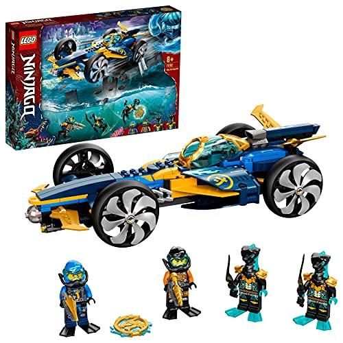 LEGO 71752 NINJAGO Ninja-Unterwasserspeeder, U-Boot Spielzeug ab 8 Jahre, Set mit 4 Ninja Mini Figuren