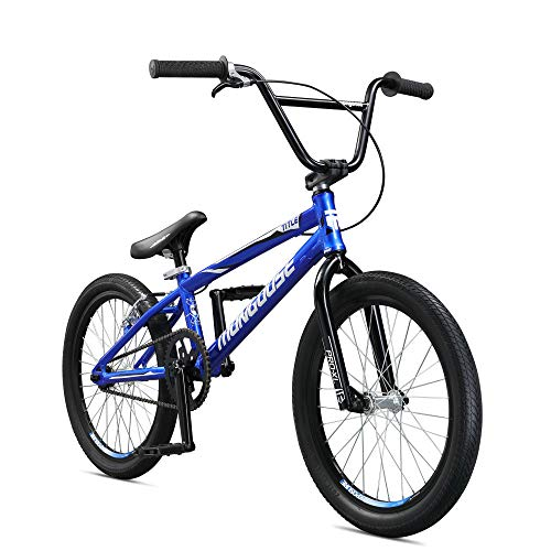 Mongoose Unisex-Adult Title Pro XL Race Racing, BMX, Blue, one Size