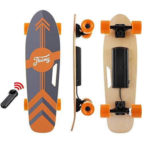 Tooluck Elektro Skateboard 77cm mit Drahtloser Bluetooth Fernsteuerung, Elektrisch Longboard mit PU...