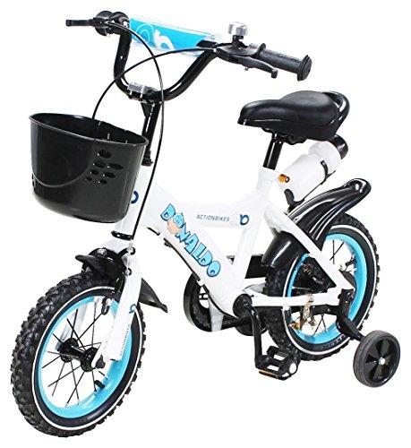 Actionbikes Kinderfahrrad Donaldo - 12 Zoll - V-Break Bremse vorne - Stützräder - Luftbereifung - Ab...