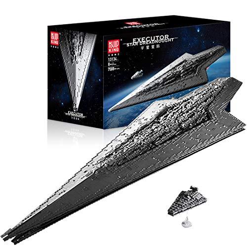 KEAYO Technik Sternenzerstörer Modell, Mould King 13134, 7588 Teile Groß UCS Super Star Destroyer MOC...