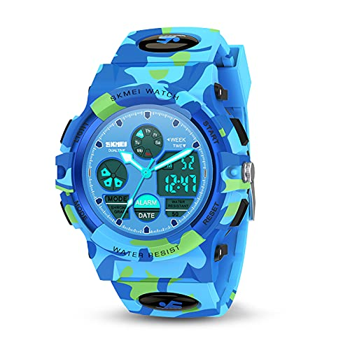 Toyzzii Geschenk Junge 4-15 Jahre, Kinderuhr Junge Mädchen Geschenke 4-15 Jahre Armbanduhr Mädchen...