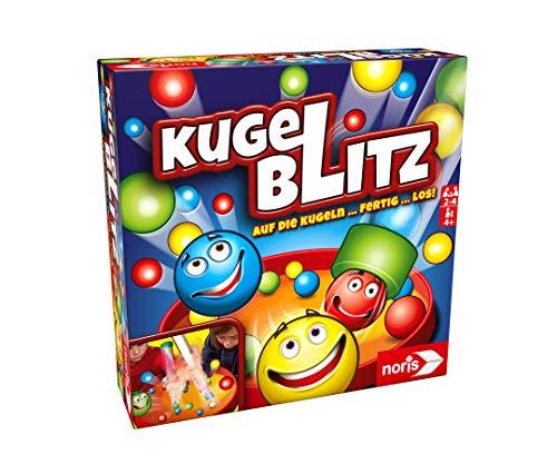 Noris 606064480 Kugelblitz, das blitzschnelle Actionspiel mit Lerneffekt in verschiedenen Spielvarianten,...