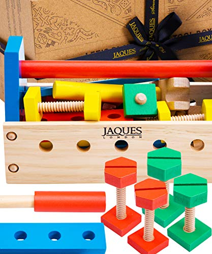 Jaques of London Werkzeugkoffer Kinder | Qualität Kinder Werkzeugkoffer Spielzeug ab 3 4 5 Jahre |...