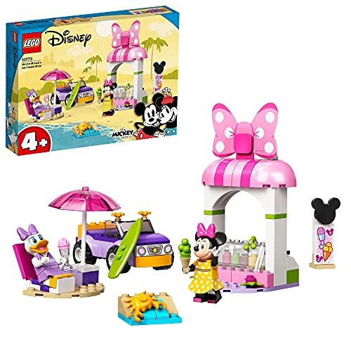 LEGO 10773 Mickey and Friends Minnies Eisdiele, Minnie Mouse Spielzeug zum Bauen für Kinder ab 4 Jahren