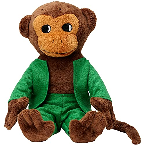 Micki & Friends Pippi Langstrumpf AFFE Kuscheltier Herr Nilsson Stofftier 16 cm – Baby Spielzeug ab 0...