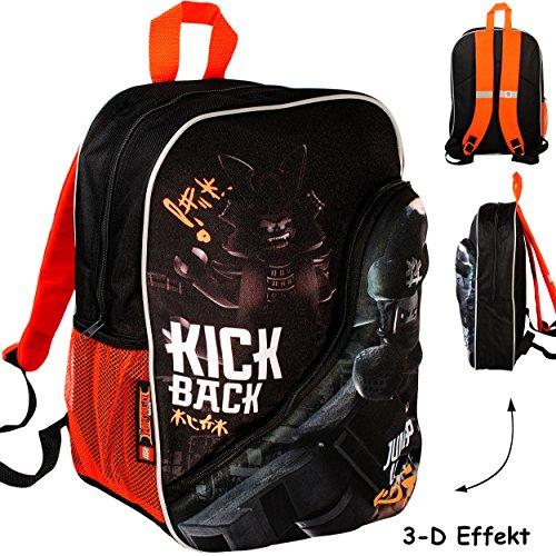 alles-meine.de GmbH 3-D Effekt _ Kinder Rucksack -  L E G O - Ninjago / Ninja  - Tasche - wasserfest &...