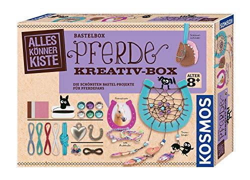 KOSMOS 604363 AllesKönnerKiste Pferde Kreativ-Box. DIY-Bastelset für Mädchen und Jungen ab 8 Jahren,...