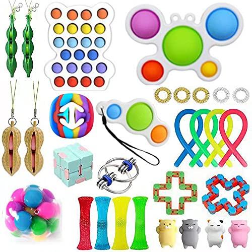 Sensory Fidget Toys Pack, Stressabbau & Angstlinderung Tools Bundle Figetget Toys Set für Kinder...