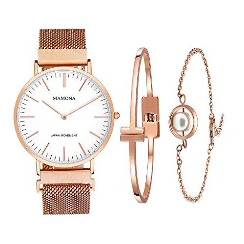 MAMONA Uhr, Armband und Armreif im Set
