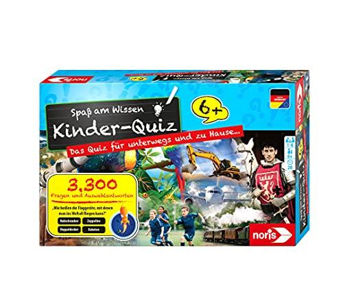 Noris 606013596 Kinder-Quiz, der Familen-Spielspaß für Zuhause oder unterwegs, für 1-6 Spieler ab 6...