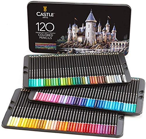 """Castle Art Supplies, Set mit 120 Buntstiften für Künstler mit Mine der """"Soft Series"""" für..."""
