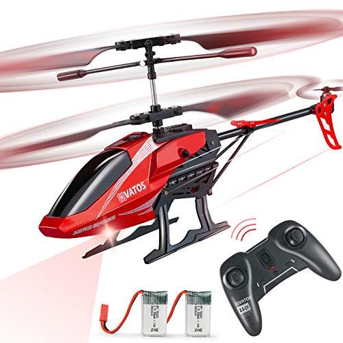 VATOS Hubschrauber Ferngesteuert RC Helikopter: Höhenlage Hobby Flugzeug mit 2 Batterien Kreisel & LED...