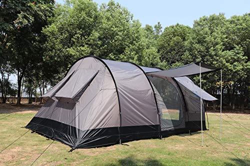 MK Outdoor Campingzelt für 4-5 Personen, Großes (475cm x 305cm x 207cm - LxBxH) Familienzelt mit 3...