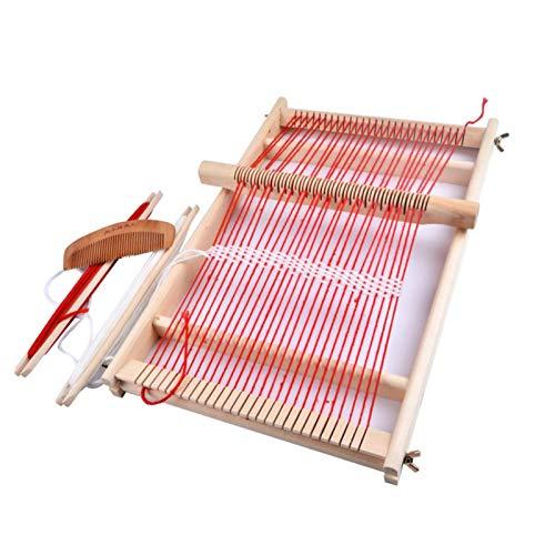 Webrahmen Set, Holzwebstuhl DIY Multifunktional Weaving Loom Kit Holzwebrahmen Webstuhl Für Erwachsene...