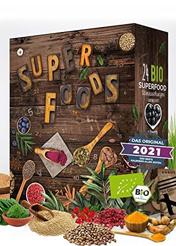 BIO Superfood Adventskalender 2021 I gesund durch die Adventszeit I Superfoods testen I 24 leckere...