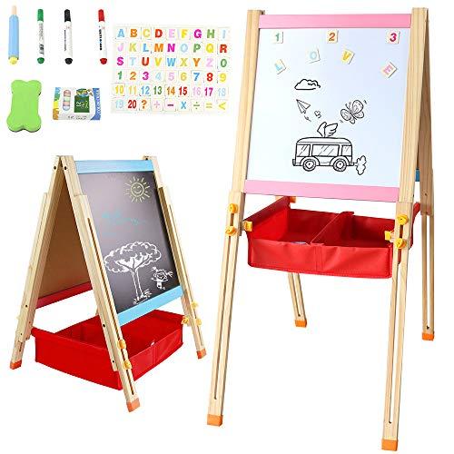 Symiu Tafel Magnettafel Kinder Kreidetafel Maltafel Mit Stiften und Magnetkarten Geschenk für Kinder...