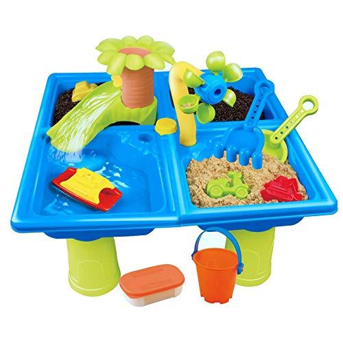 Kinder Spieltisch wassertisch Sand und Wasserspieltisch Spielzeug Kinder Strand Sandspieltisch draußen...