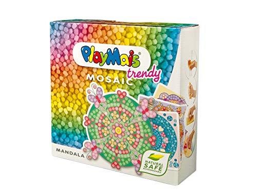 PlayMais TRENDY Mosaic Mandala Kreativ-Set zum Basteln für Mädchen ab 6 Jahren | Über 3.000 Stück & 6...