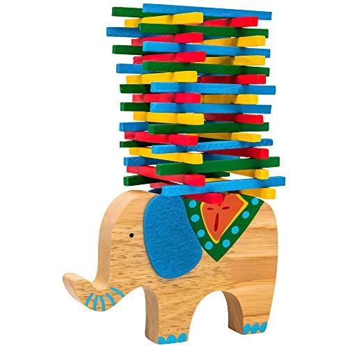 Natureich Elefant Stapel-Spielzeug aus Holz