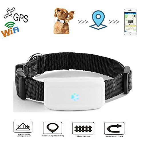 Haustier GPS Tracker, TKSTAR Hund Katze GPS Tracker mit Halsband Anti Verlorene GPS Ortung Echtzeit GPS...