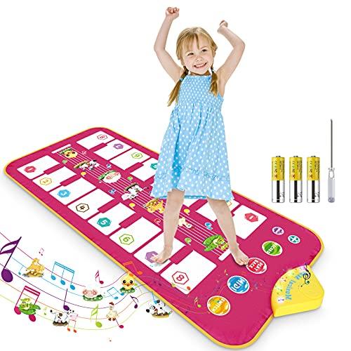 RenFox Piano Matte, Klaviermatte für Kinder , Tanzmatte Musikmatte Bilateral Tastatur mit 16 Tasten & 7...