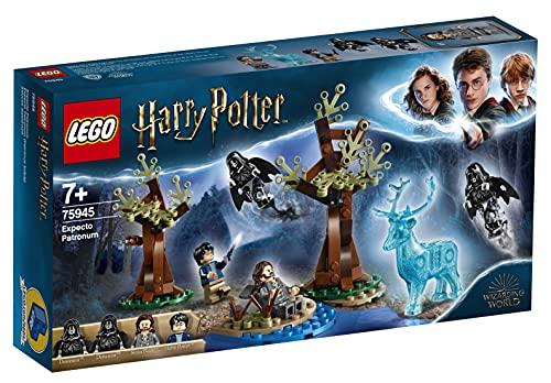 LEGO 75945 Harry Potter Expecto Patronum Set mit 4 Minifiguren und Patronus Hirsch-Figur