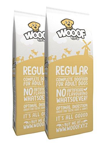 WOOOF Regular | kaltgepresstes Hundefutter | Trockenfutter mit Rindfleisch | 28kg | leicht verdaulich |...