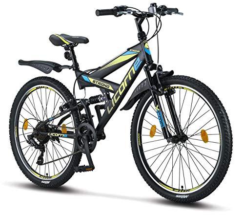 Licorne Bike Premium Mountainbike in 26 Zoll - Fahrrad für Jungen, Mädchen, Damen und Herren - Shimano...
